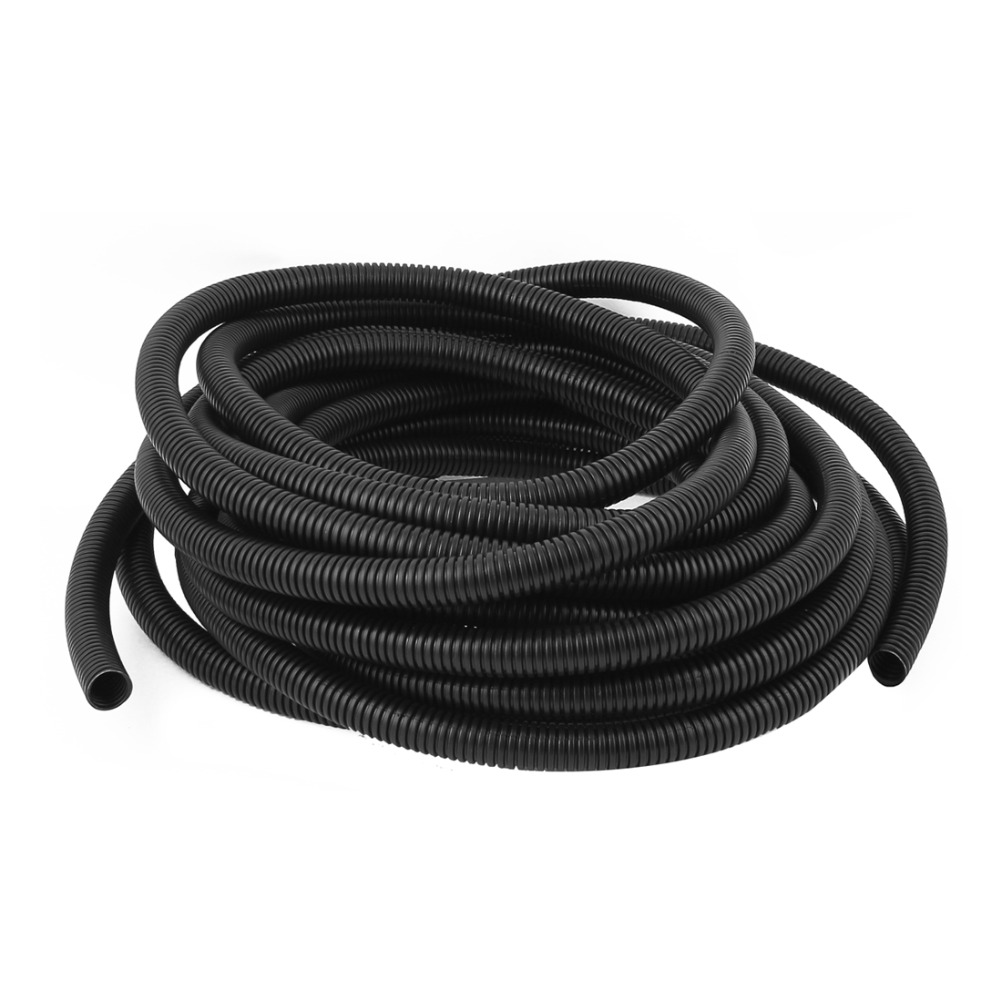 10M Length 16mm OD Corrugated Flexible Wire Cable Conduit Tubing Tube Pipe Black