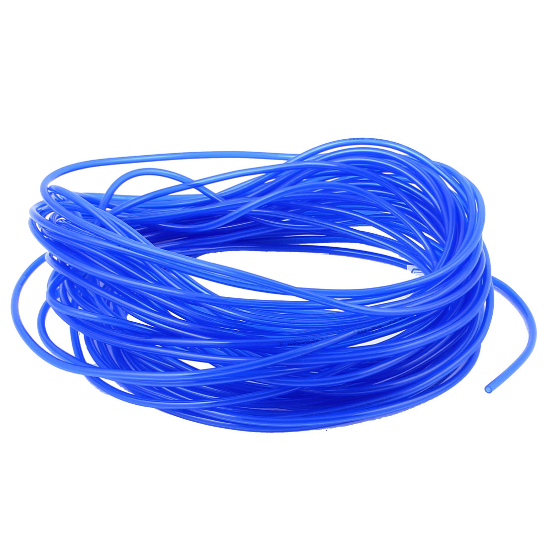 19M Long 4mmx2.5mm Dia Pneumatic Polyurethane PU Air Tube Tubing Pipe Hose Blue
