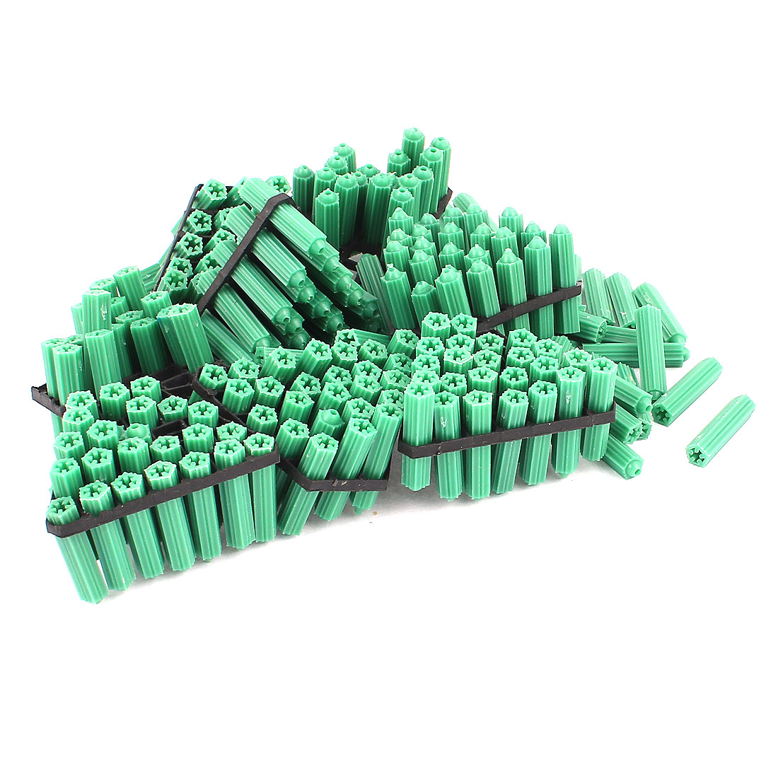 29mm x 7mm Plastic Screw Fixing Anchor Wall Stopper Fastener Green 250Pcs
