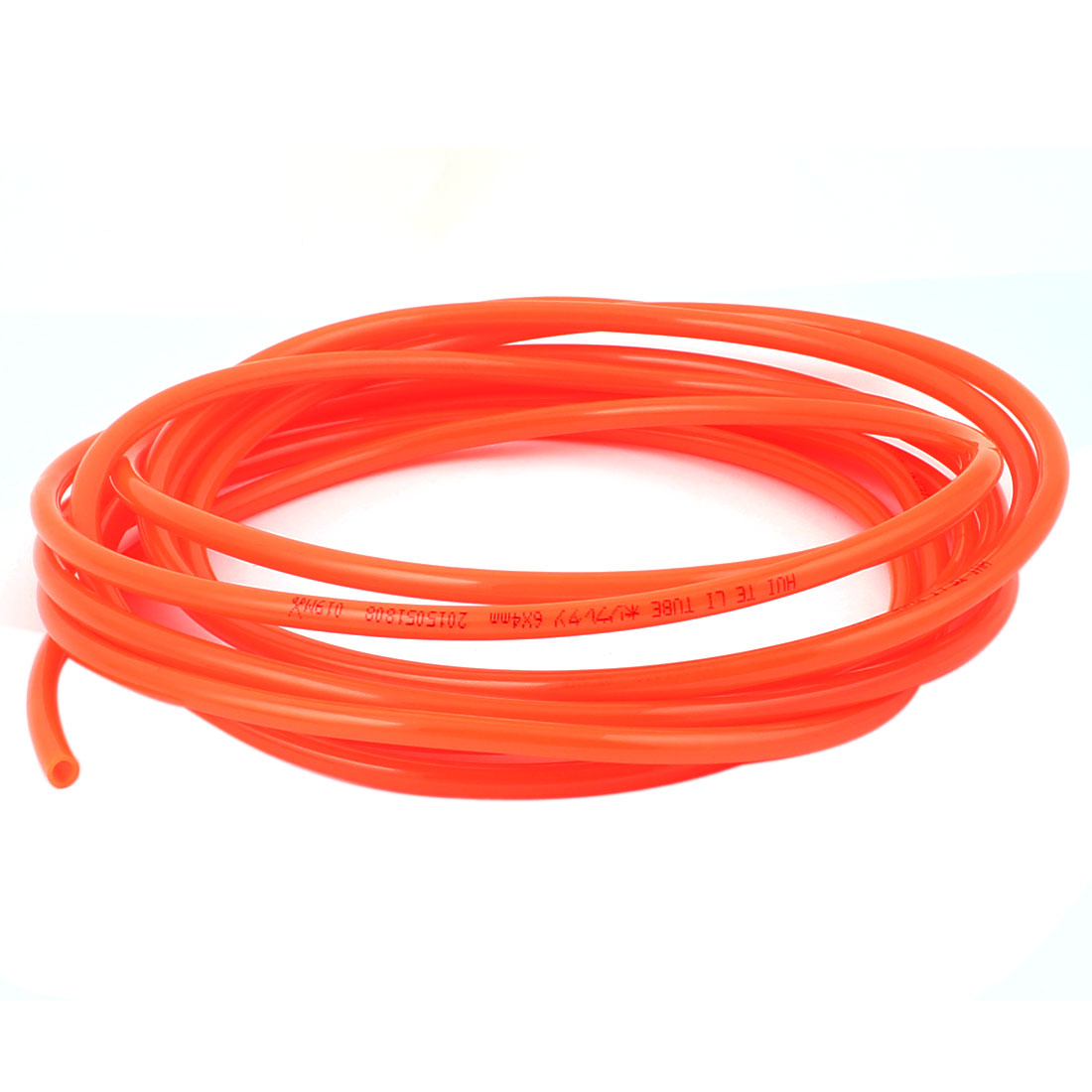 5M Long 6mm x 4mm Dia Pneumatic Polyurethane PU Air Tube Tubing Pipe Hose Orange