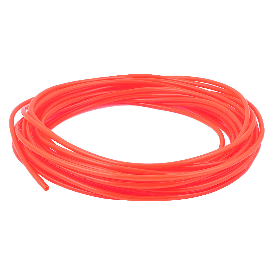 15M Long 6mmx4mm Dia Pneumatic Polyurethane PU Air Tube Tubing Pipe Hose Orange