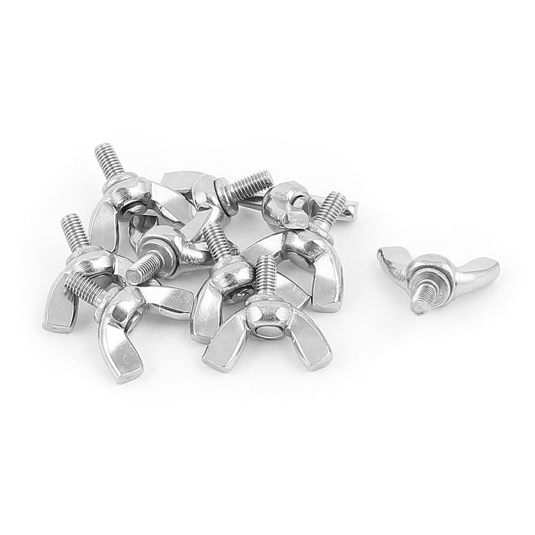10pcs 3mm x 6mm 304 Stainless Steel 20mm Width Wing Head Screw Bolts