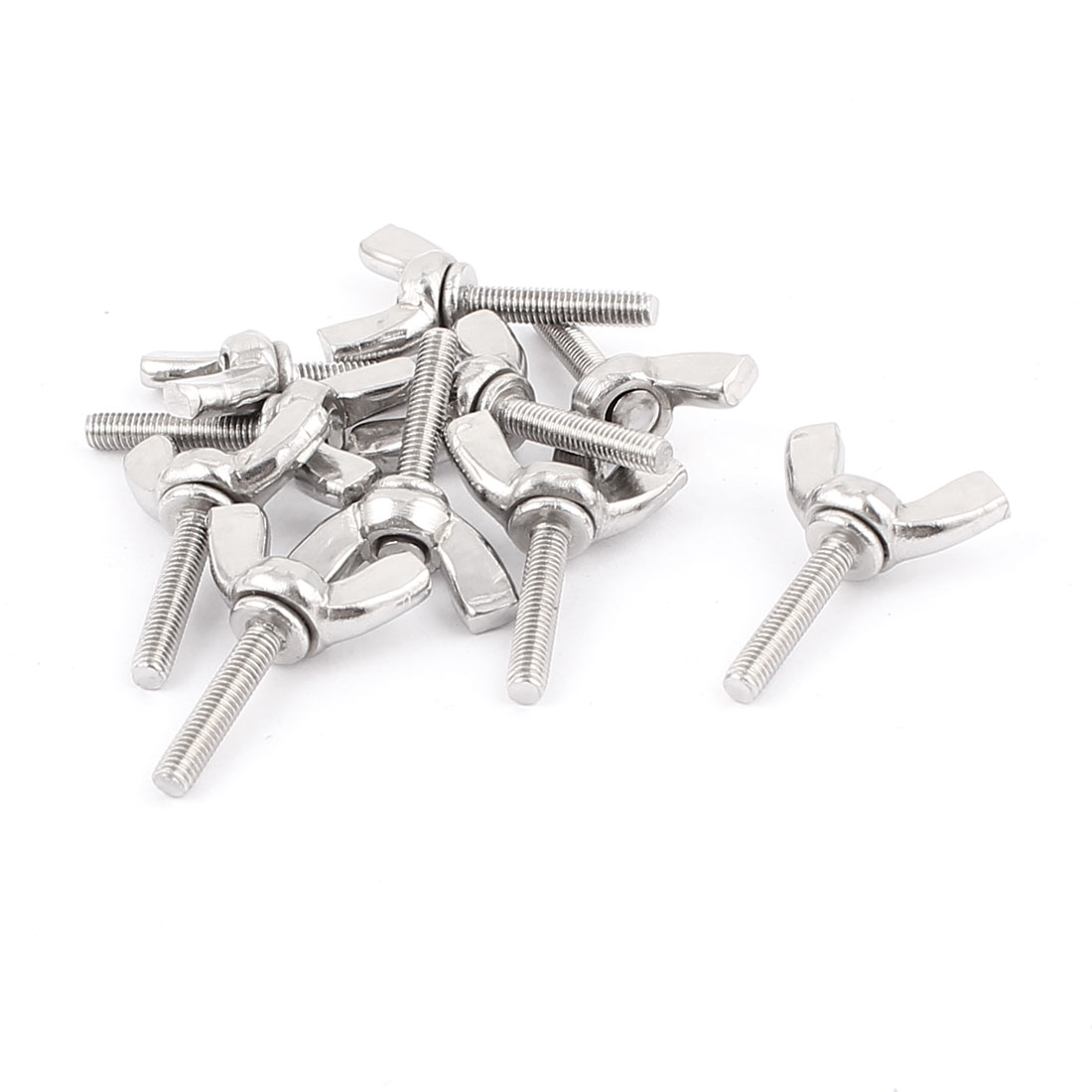 M3x16mm 304 Stainless Steel Butterfly Screw Bolt Wing Bolts 10pcs