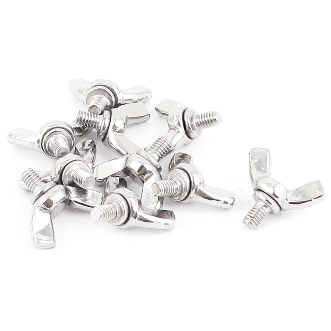 M4 Male Thread 0.7mm Pitch Wing Screws Butterfly Bolts Fasteners 10pcs
