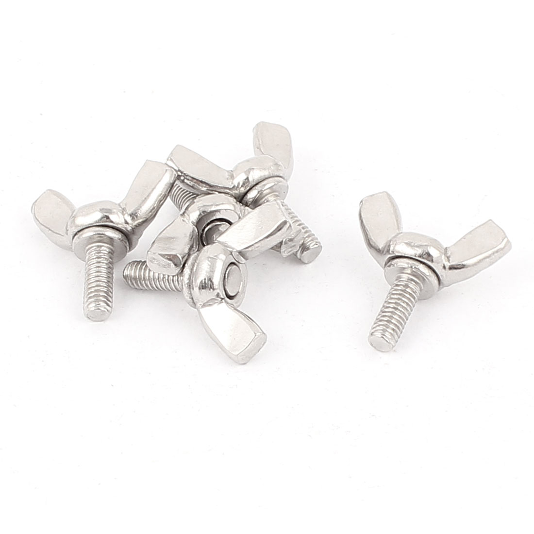 M4x10mm 0.7mm Pitch 304 Stainless Steel Wing Screw Butterfly Bolt 5pcs