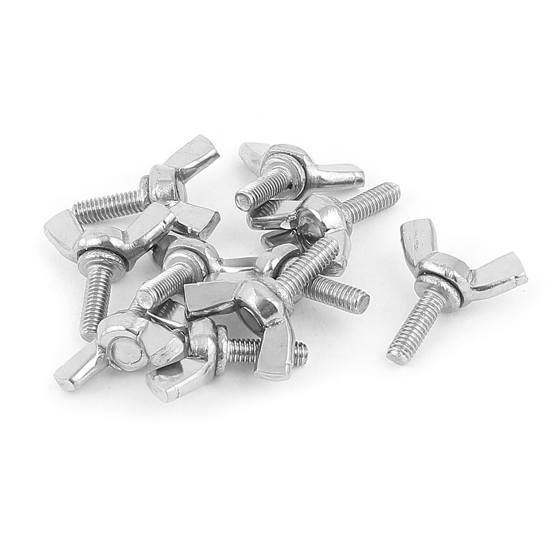 M4x12mm 304 Stainless Steel Wing Head Screw Bolts Fastener 10pcs