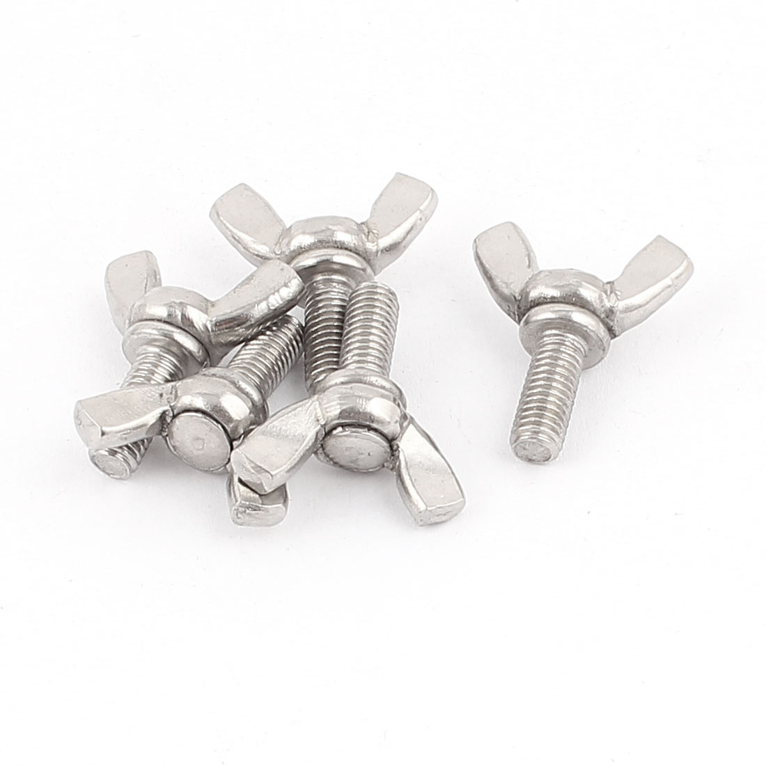 M5x12mm 304 Stainless Steel Wing Screw Bolts Hardware Parts 5pcs