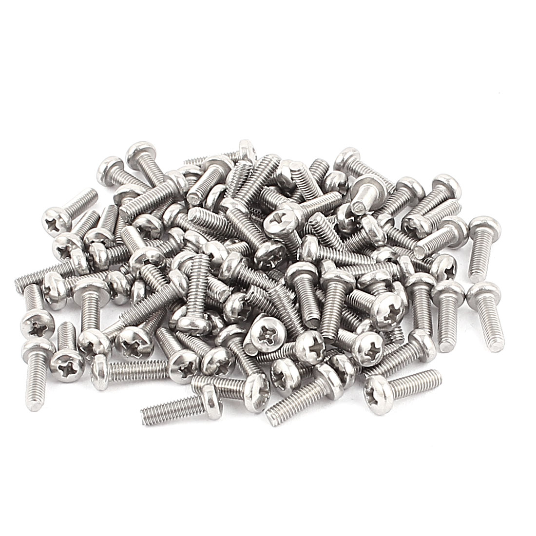 M3 x 10mm Round Head Phillips Screws 100pcs for DVD-ROM Motherboard