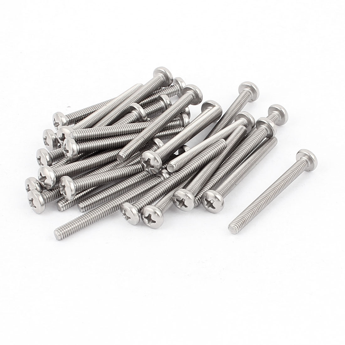 M4 x 40mm Thread Phillips Head Screws 30pcs for Cabinet Drawer Handles