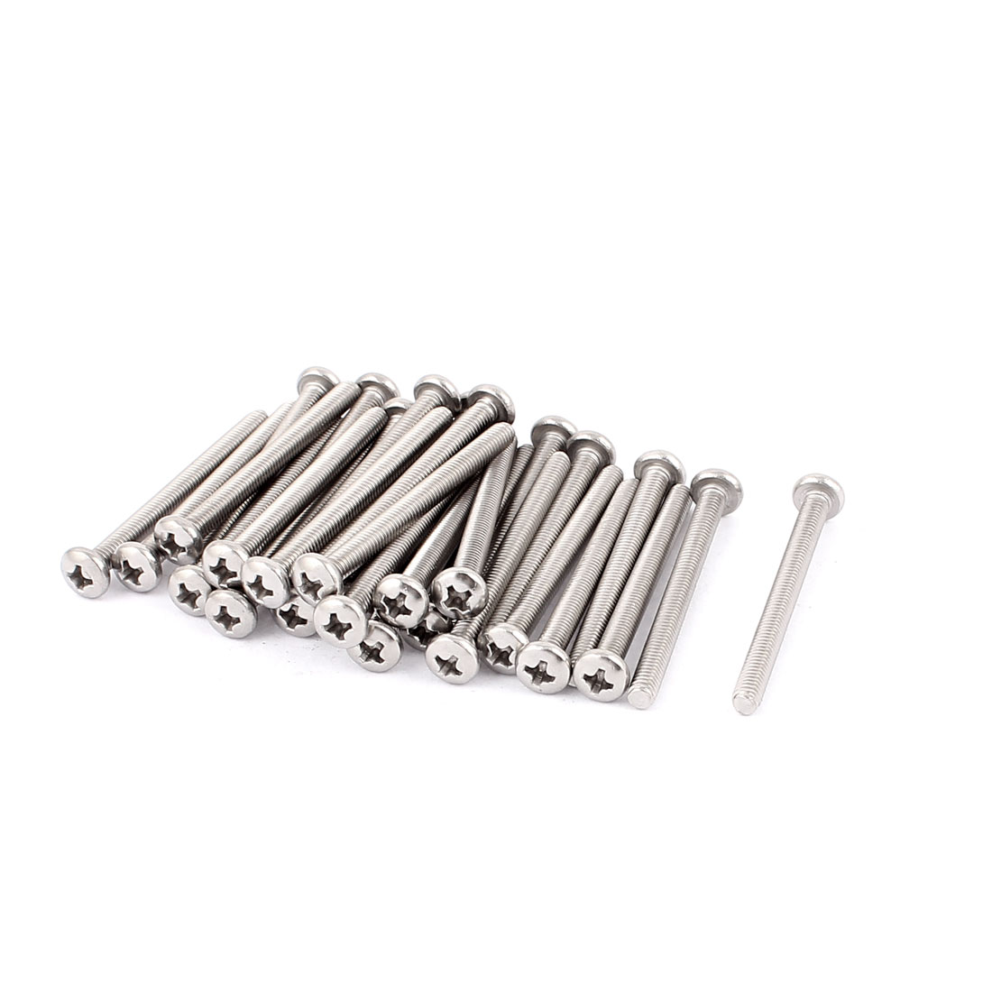 M4x45mm 304 Stainless Steel Round Head Phillips Mounting Screws 30pcs