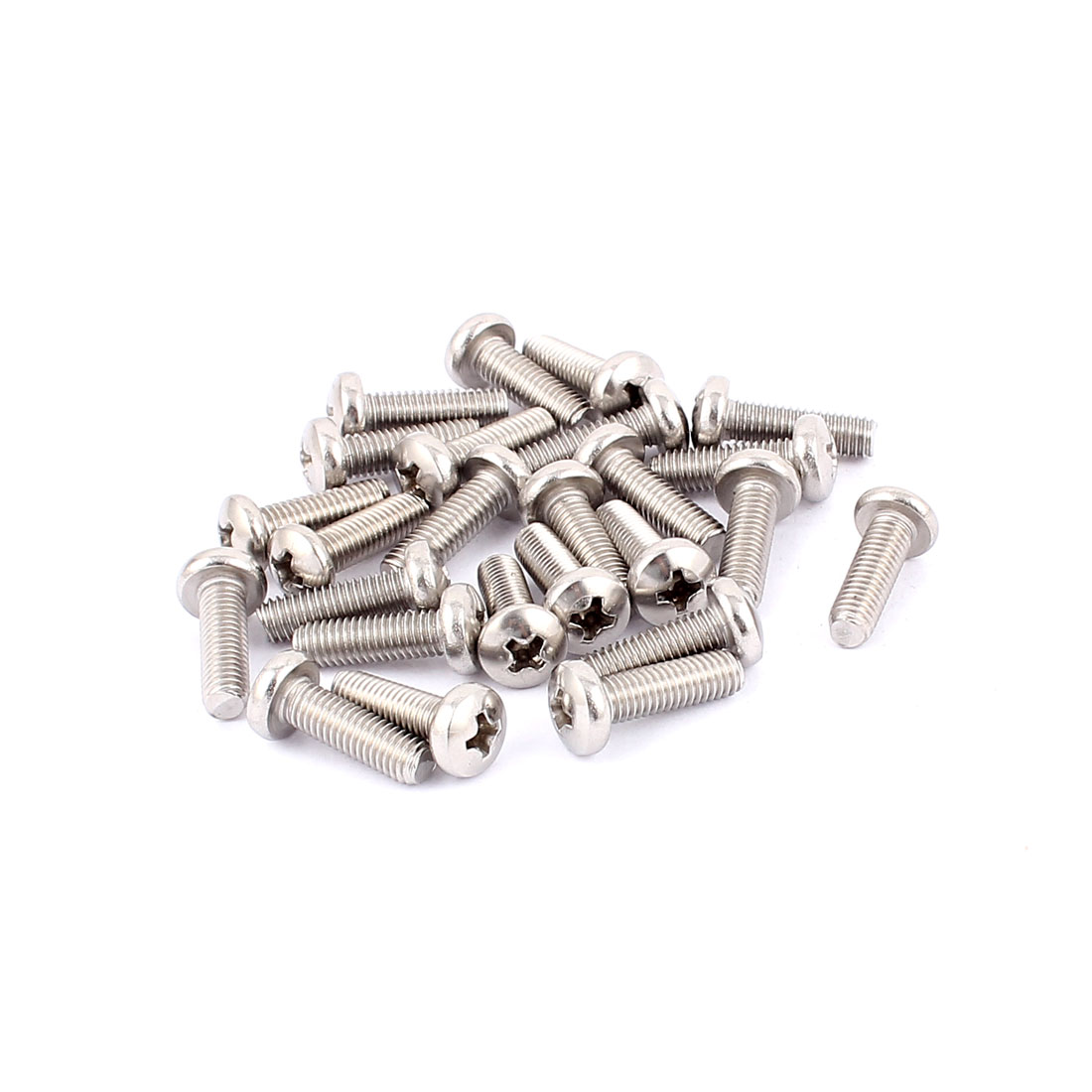 Metric M5x16mm 304 Stainless Steel Phillips Head Machine Screws 25pcs