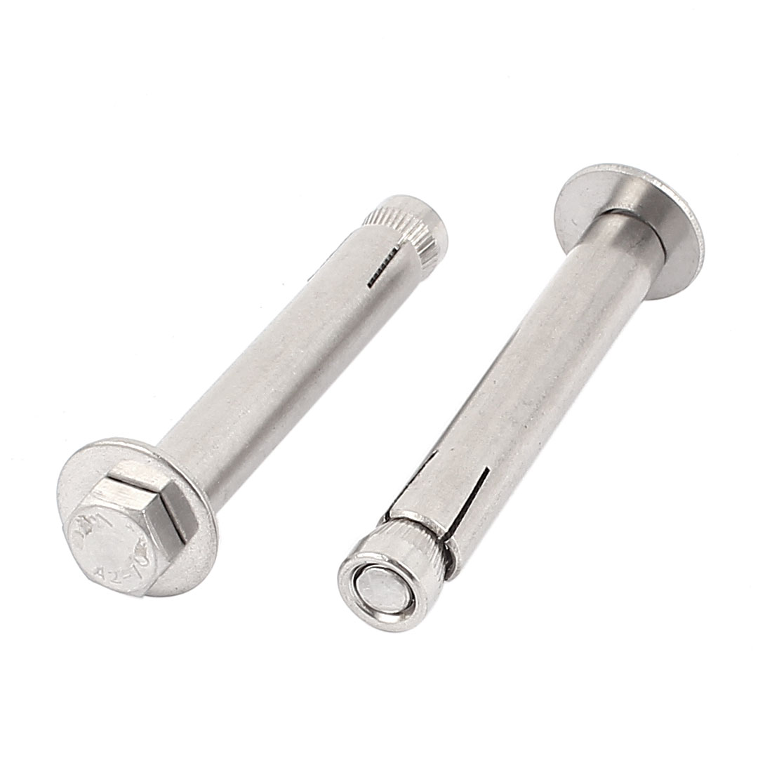 M8x80mm 304 Stainless Steel Building Expansion Anchor Bolts 2pcs
