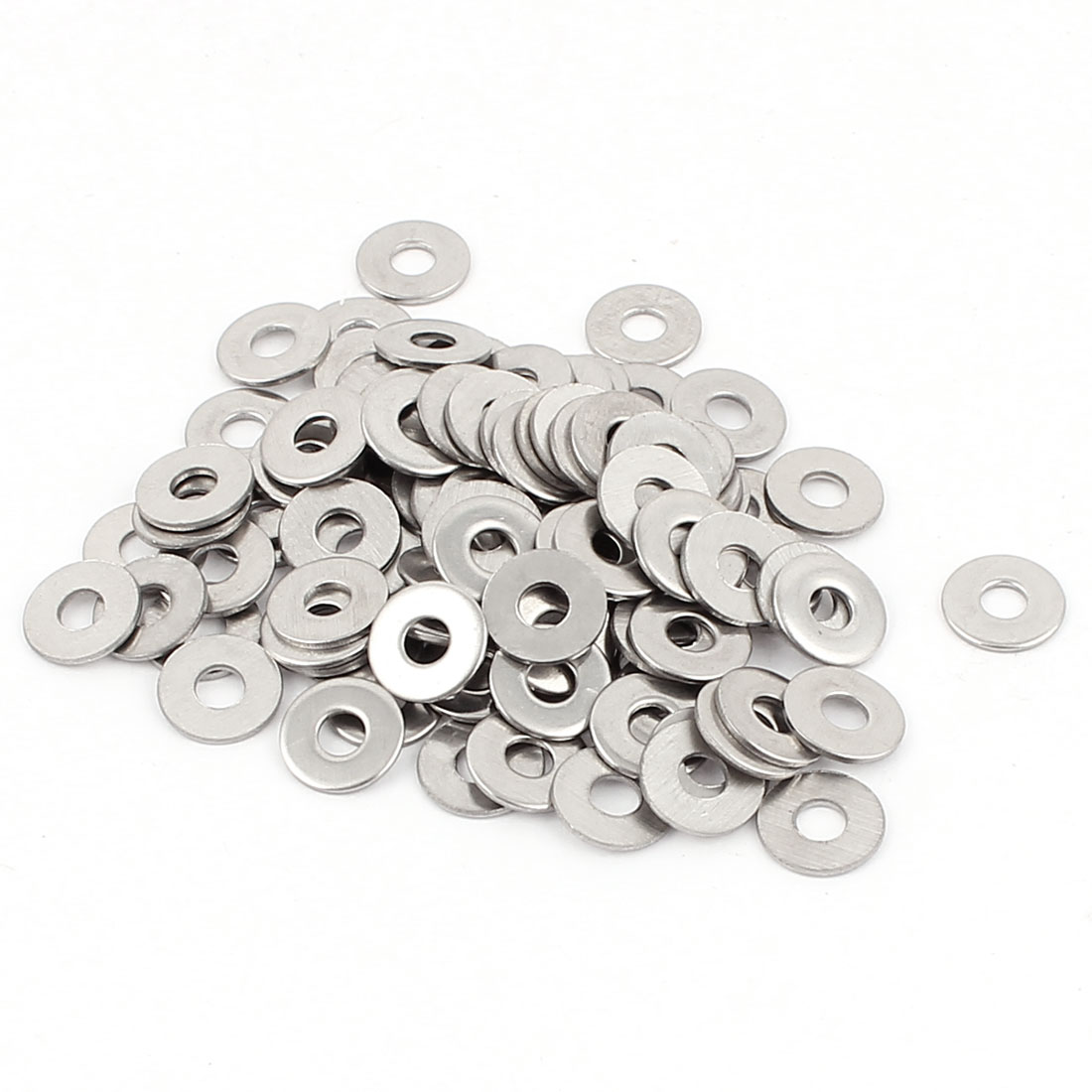 M3 3mm Metric 304 Stainless Steel Flat Washer Gaskets 100pcs