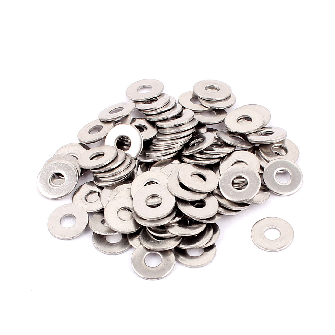 Screws Repair Part 4mm 304 Stainless Steel Flat Washer Spacer 100pcs