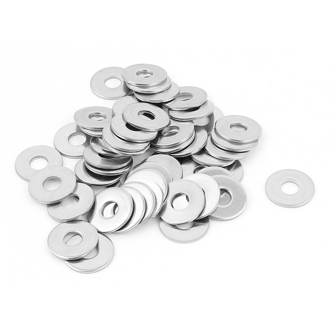 5x15x1mm 304 Stainless Steel Thin Washers Flat Gaskets 50pcs