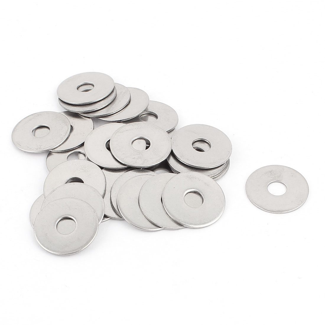 Screw Repair Part 6mm 304 Stainless Steel Flat Washers Spacers 30pcs