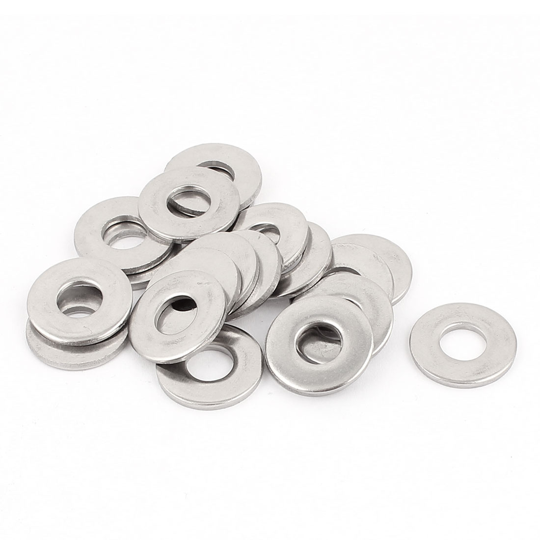 Bolt Base 304 Stainless Steel 8x20x2mm Flat Washer Gaskets Fasteners 20pcs