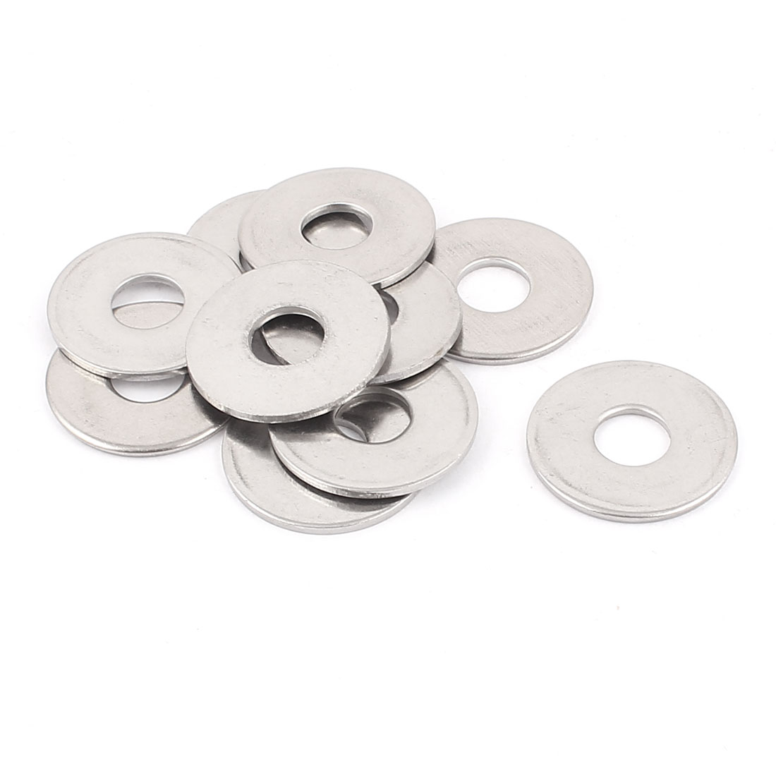 Crown Bolt 10mm Hole 304 Stainless Steel Flat Washers Gaskets 10pcs