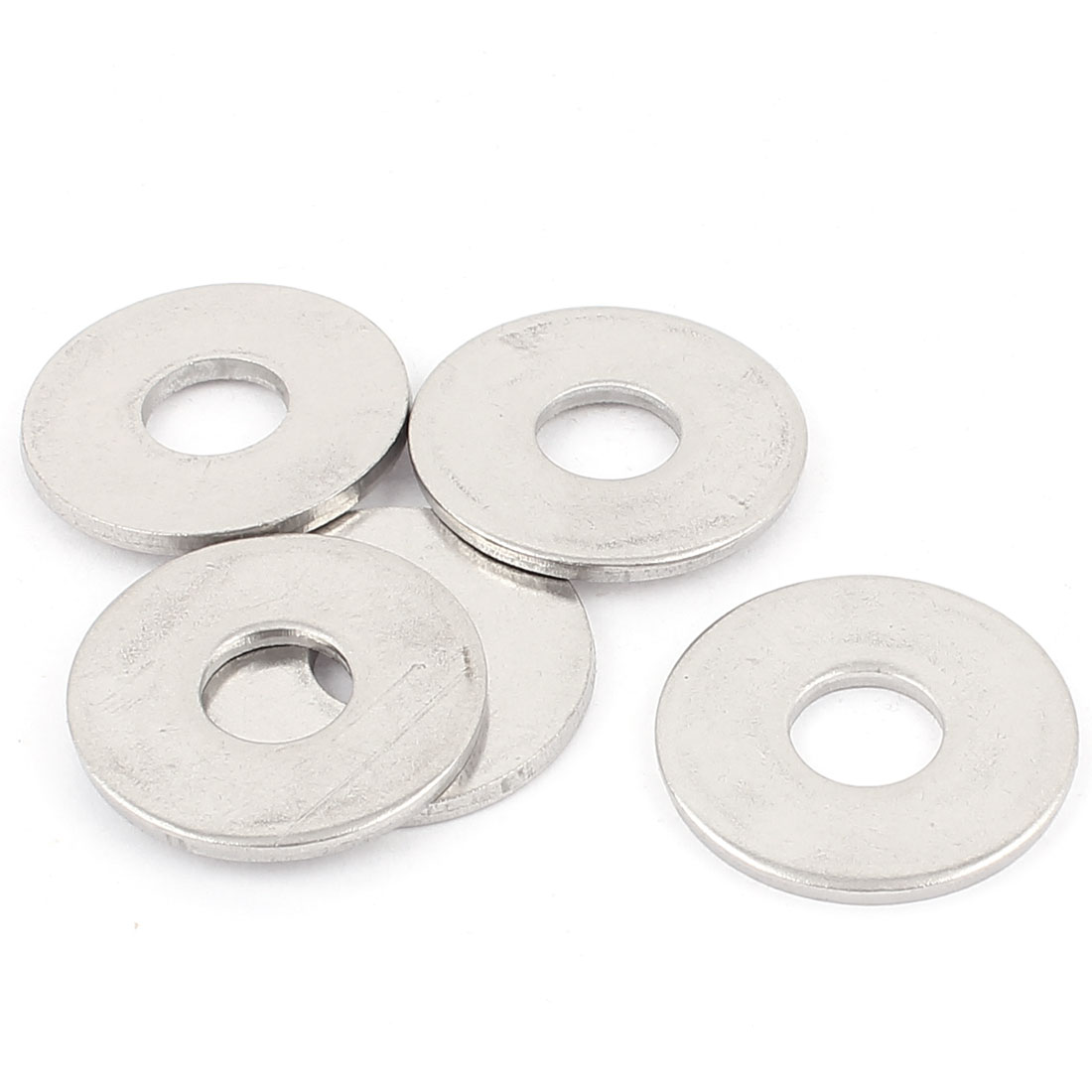 5pcs 12mm Inner Dia 304 Stainless Steel Flat Plain Washer Gaskets