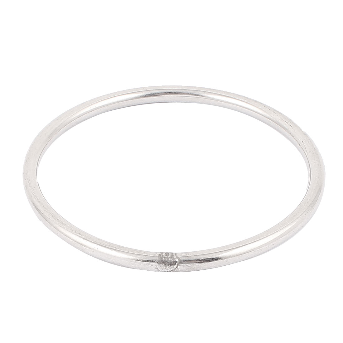 M6x100mm 304 Stainless Steel Welded Round Ring Silver Tone