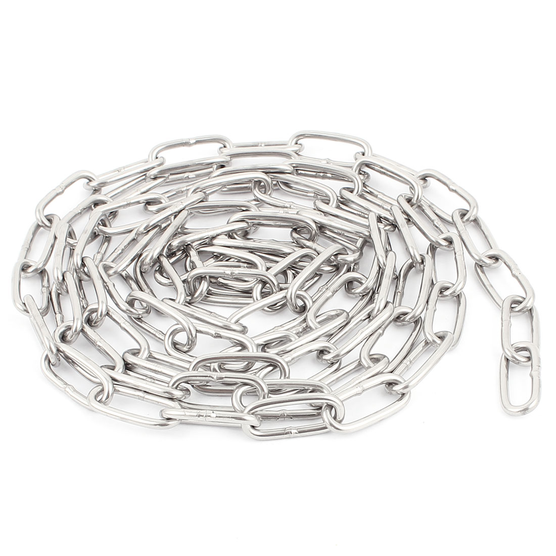 2 Meters Long 304 Stainless Steel Dog Tie Out Link Chain Silver Tone