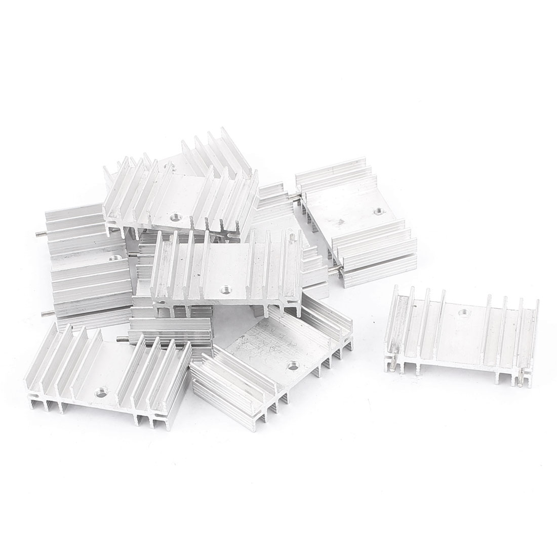 10 Pcs Aluminium 36 x 20 x 11mm Rectangle Heatsink Cooling Cooler Fin