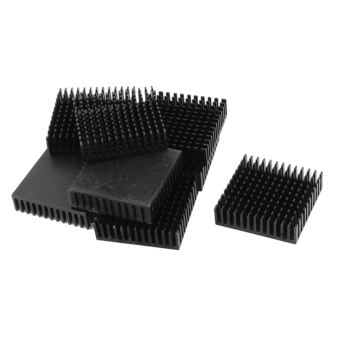 10 Pcs Aluminium 40 x 40 x 11mm Square Heatsink Cooling Cooler Fin Black