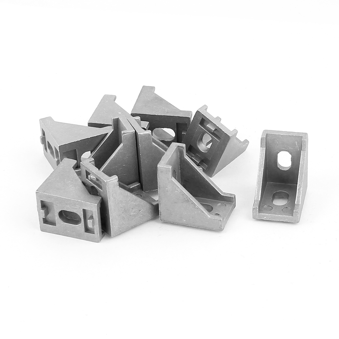 30x30x20mm 90 Degree Furniture Alloy Door Angle Bracket 10 Pcs Silver Grey