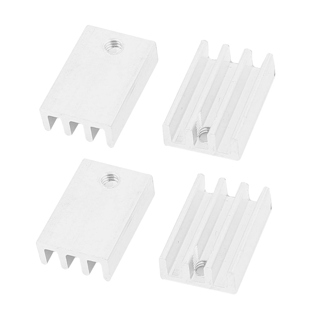 4 Pcs Aluminium 17 x 11 x 5mm Rectangle Heatsink Cooling Cooler Fin