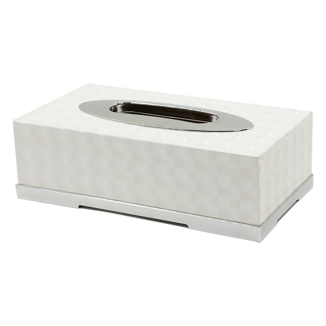 White Rectangle Napkin Paper Storage Holder Case Tissue Box 24cm x 16cm x 8cm