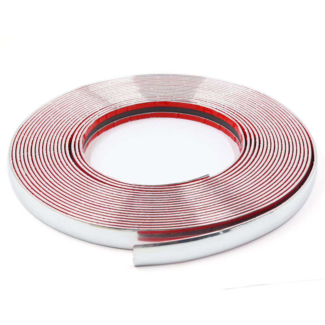 15M x 18MM Car Auto DIY Moulding Trim Strip Silver Tone for Window Bumper Grille