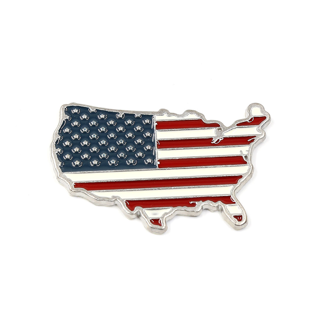 Plastic 3D USA Flag Shape Design Stick-on Auto Car Badge Emblem Sticker Decal