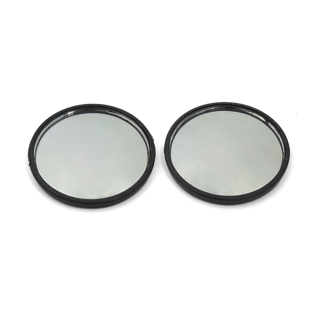 Universal 47mm Dia Black Stick-on Wide Angle Convex Car Blind Spot Mirror Pair