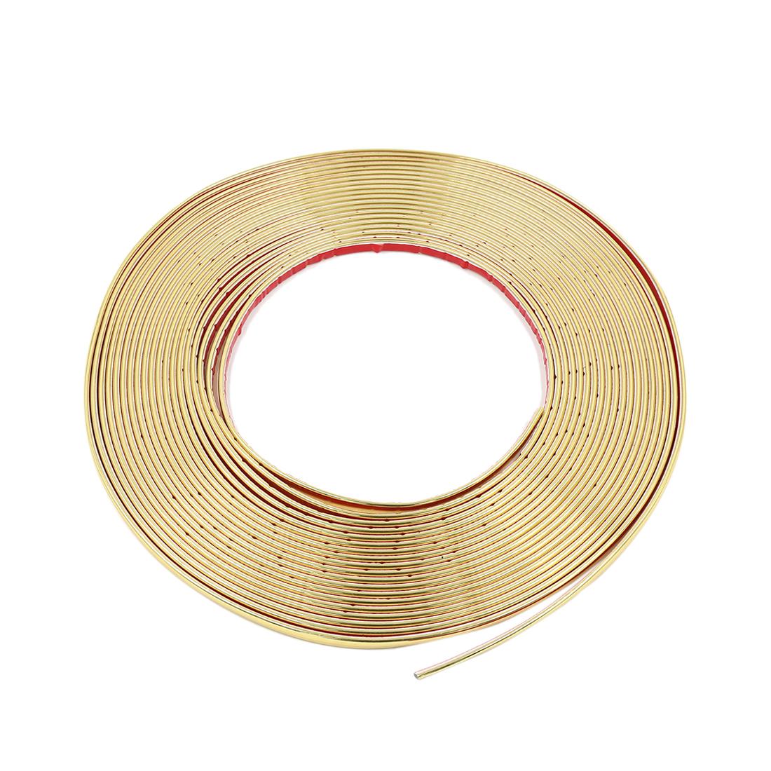 15M Gold Tone Flexible DIY Car Door Edge Guard Moulding Trim Protector Strip