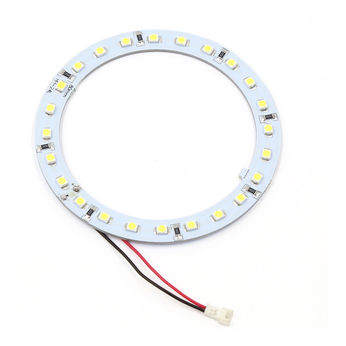80mm Angel Eyes 1210 SMD 24 LED Halo Ring Car Lamp Light White DC 12V