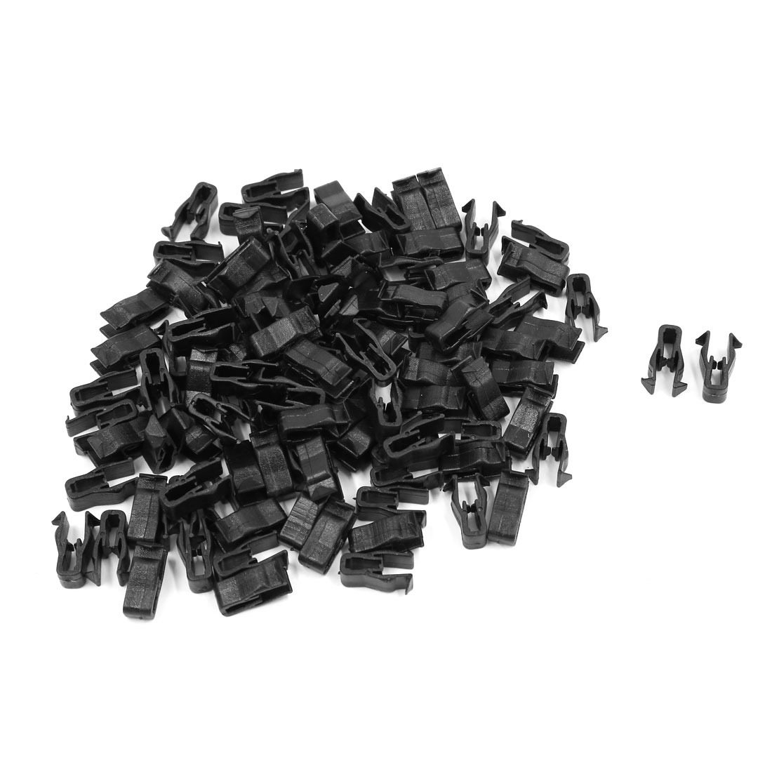 100 Pcs Black Plastic Rivet Trim Fastener Moulding Clips for 6mm Hole Diameter