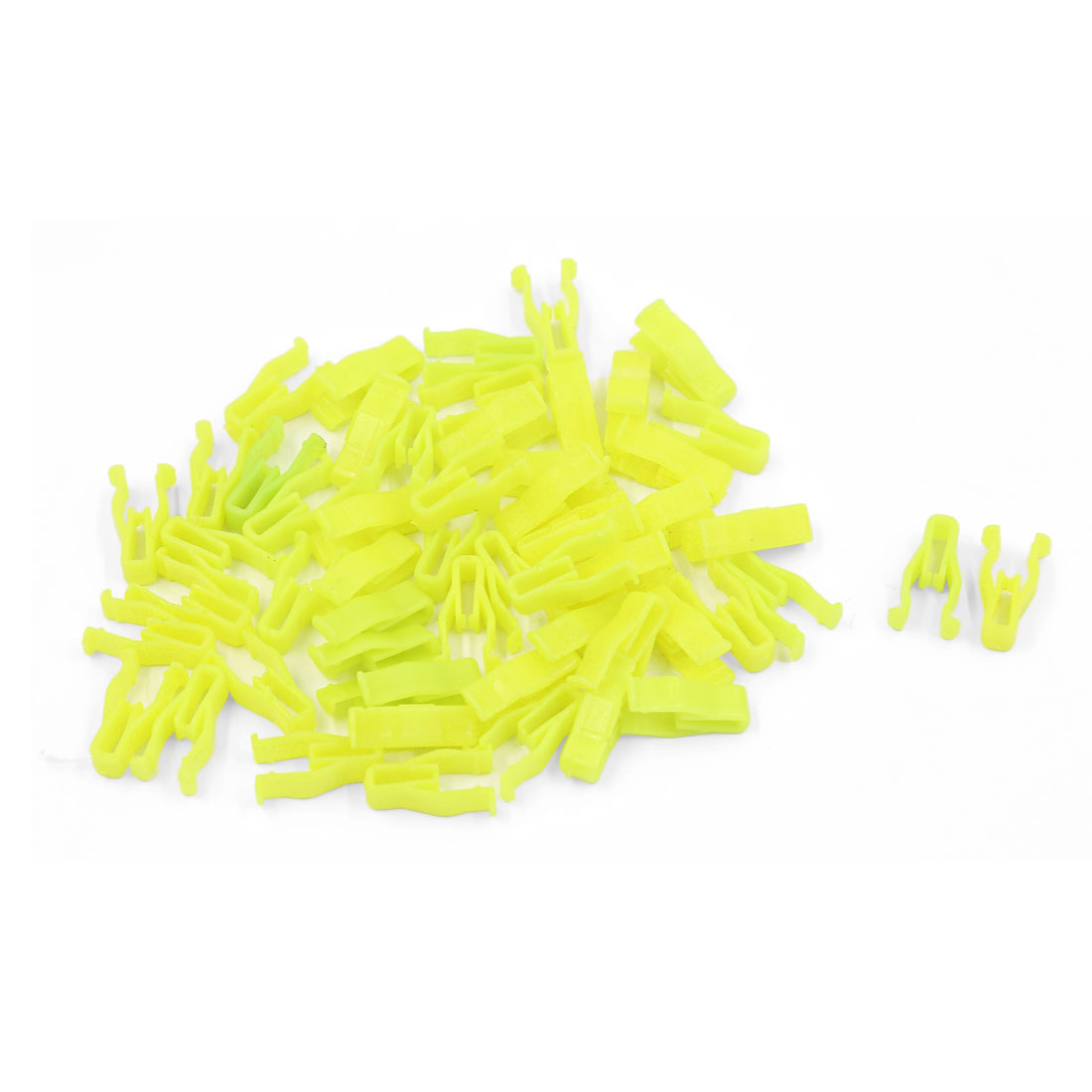 50 Pcs Yellow Car Instrument Panel Plastic Rivet Auto Trunk Fastener Clip 7mm