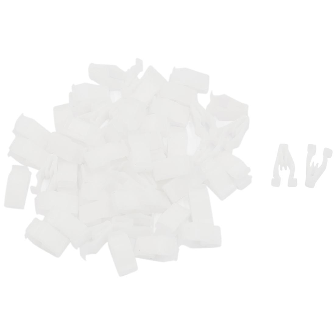50 Pcs White Plastic Car Instrument Panel Dashboard Rivet Retainer Clip 6mm Hole