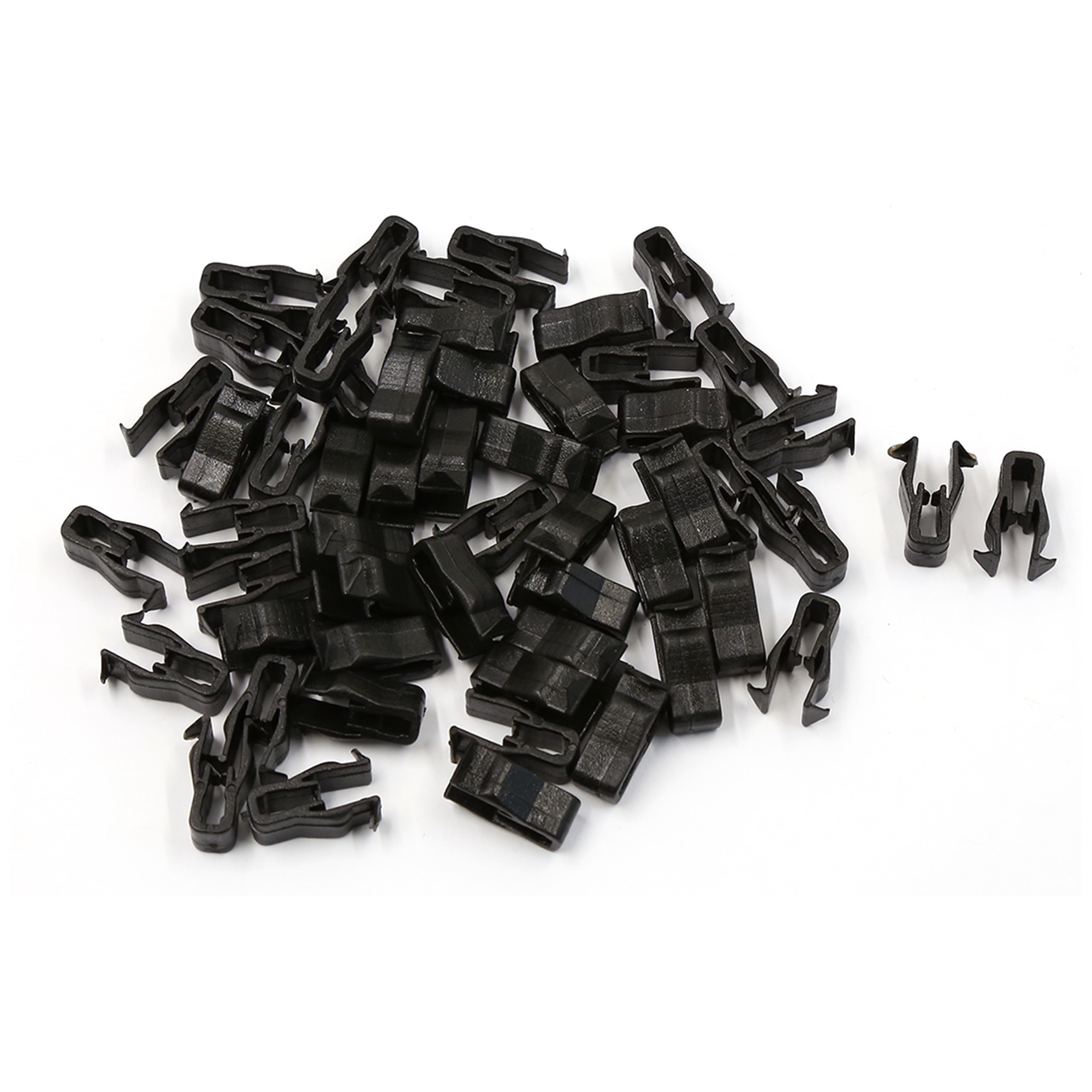 50 Pcs 6mm Hole Car Instrument Panel Dashboard Plastic Rivet Moulding Clip Black