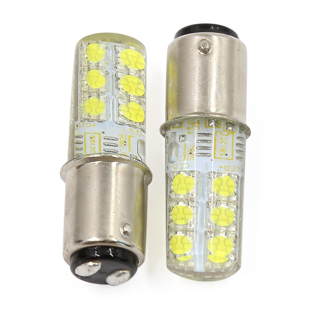 2 Pcs Silicone 1157 BAY15D White 12 LED Car Parking Light Tail Brake Lamp DC 12V