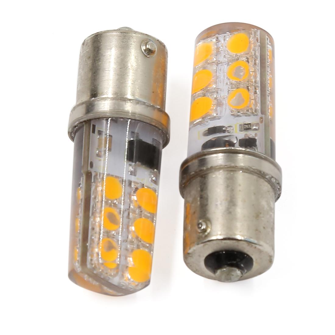 2 Pcs 1156 1073 BA15S Yellow 12-LEDs Light Turn Signal Backup Reverse Lamp Bulb