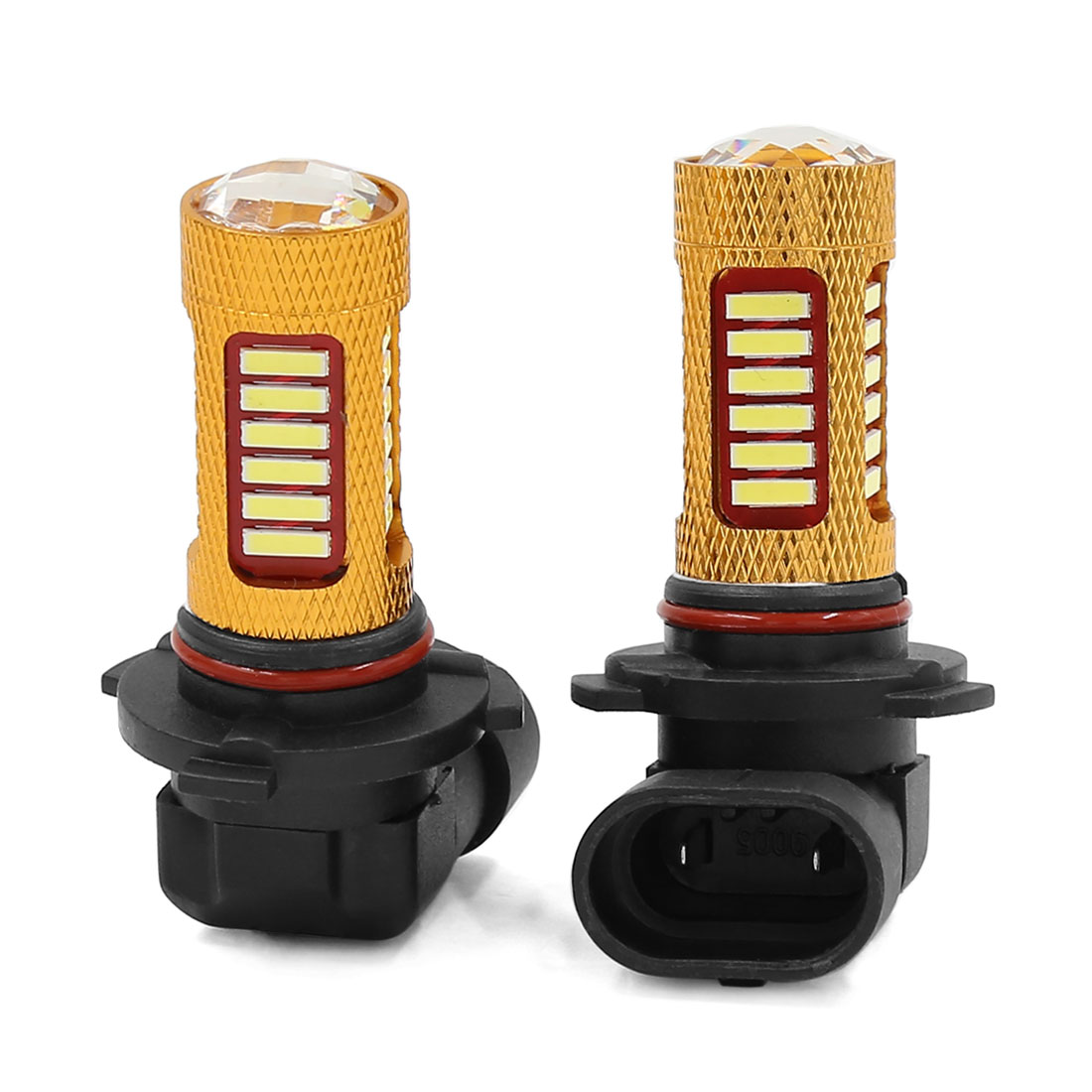 2 Pcs 9006 HB4 9012 White 27 SMD LED DRL Fog Head Light Lamp Blub for Auto car