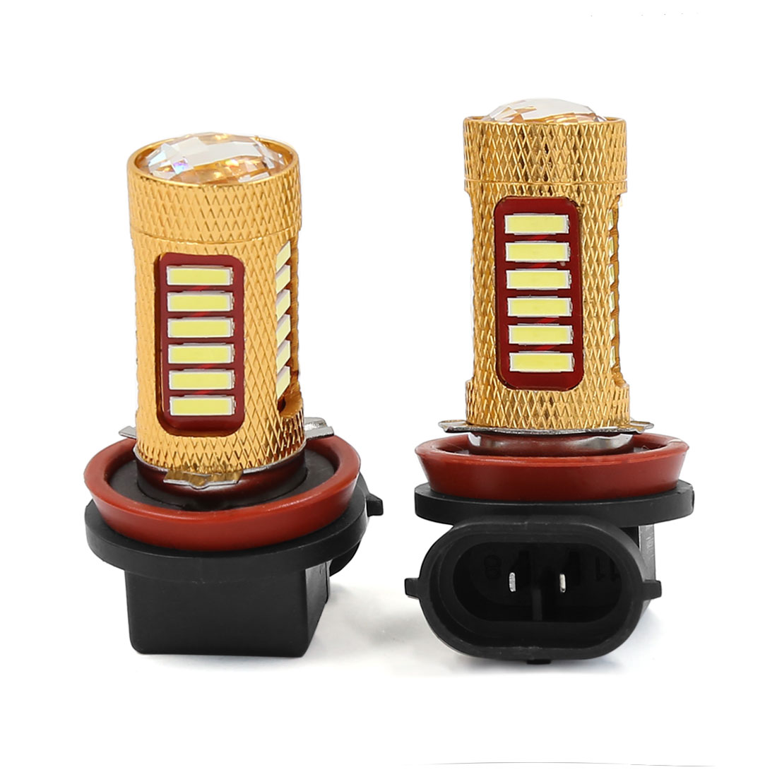 Pair H8 H11 White 27 LED DRL Driving Foglight Head Lamp Bulb DC 12V for Auto