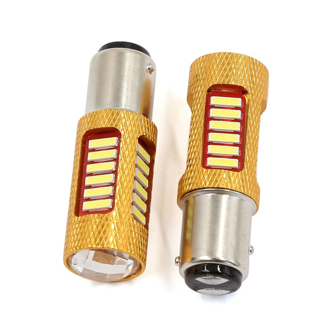 2 PCS 1157 BAY15D White 27 SMD LED Light Bulb Tail Brake Lamp 1158 1154 2357