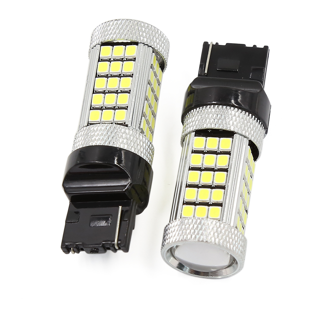 2 Pcs White T20 7440 63 LED 2832 SMD Car Brake Blub Turn Signal Light DC 12V