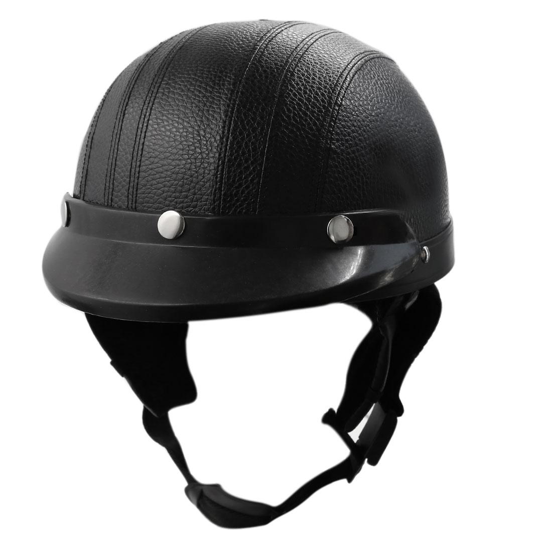 Universal Motorcycle Motorbike Scooter Visor Helemt Adult Head Protector Black