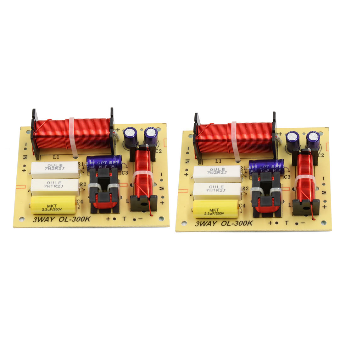 2pcs 180W Hi-Fi Speaker Audio Frequency Divider 3 Way Crossover Filters 4-8 Ohms