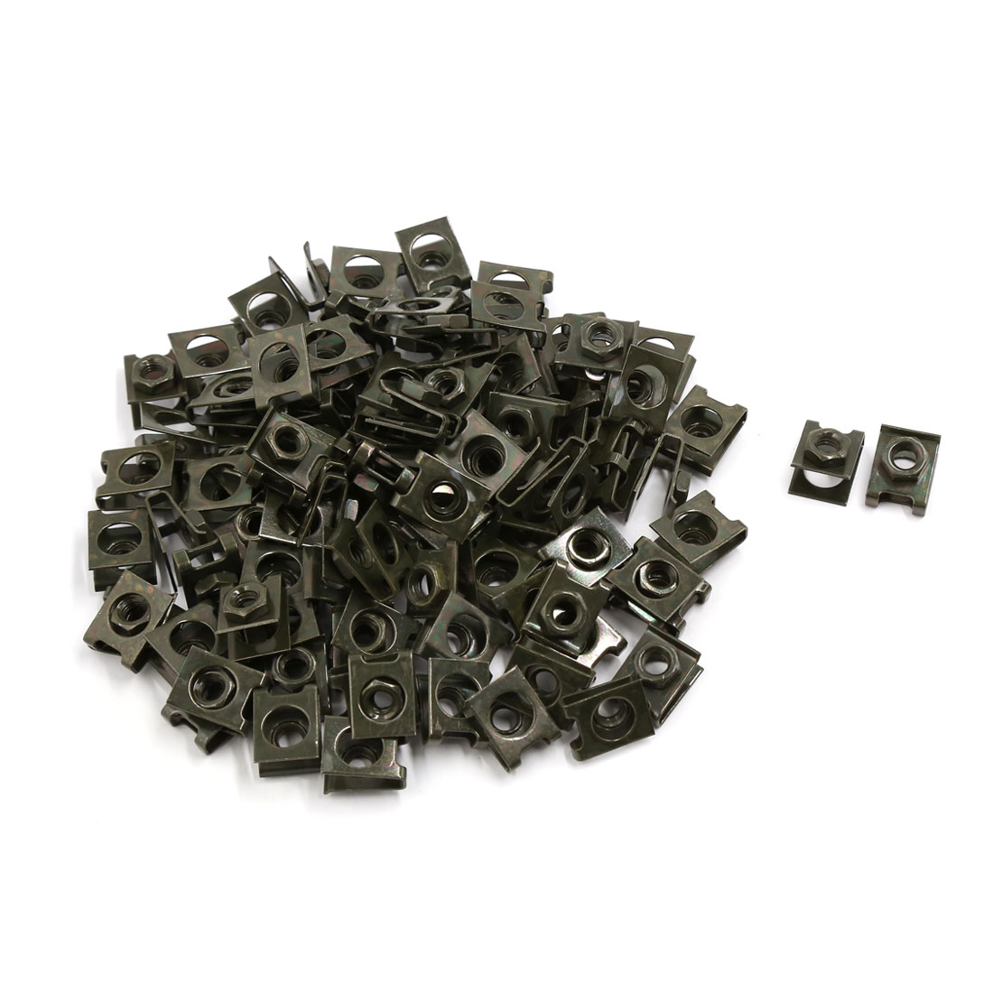 100 Pcs Brown Metal Motorcycle Sportbike Windscreen Fairing Fastener Clips
