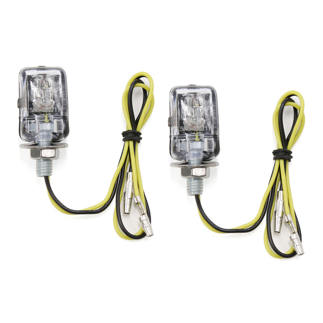 Universal Mini Yellow 6-LEDs Motorcycle Motorbike Turn Signal Light 2 Pcs