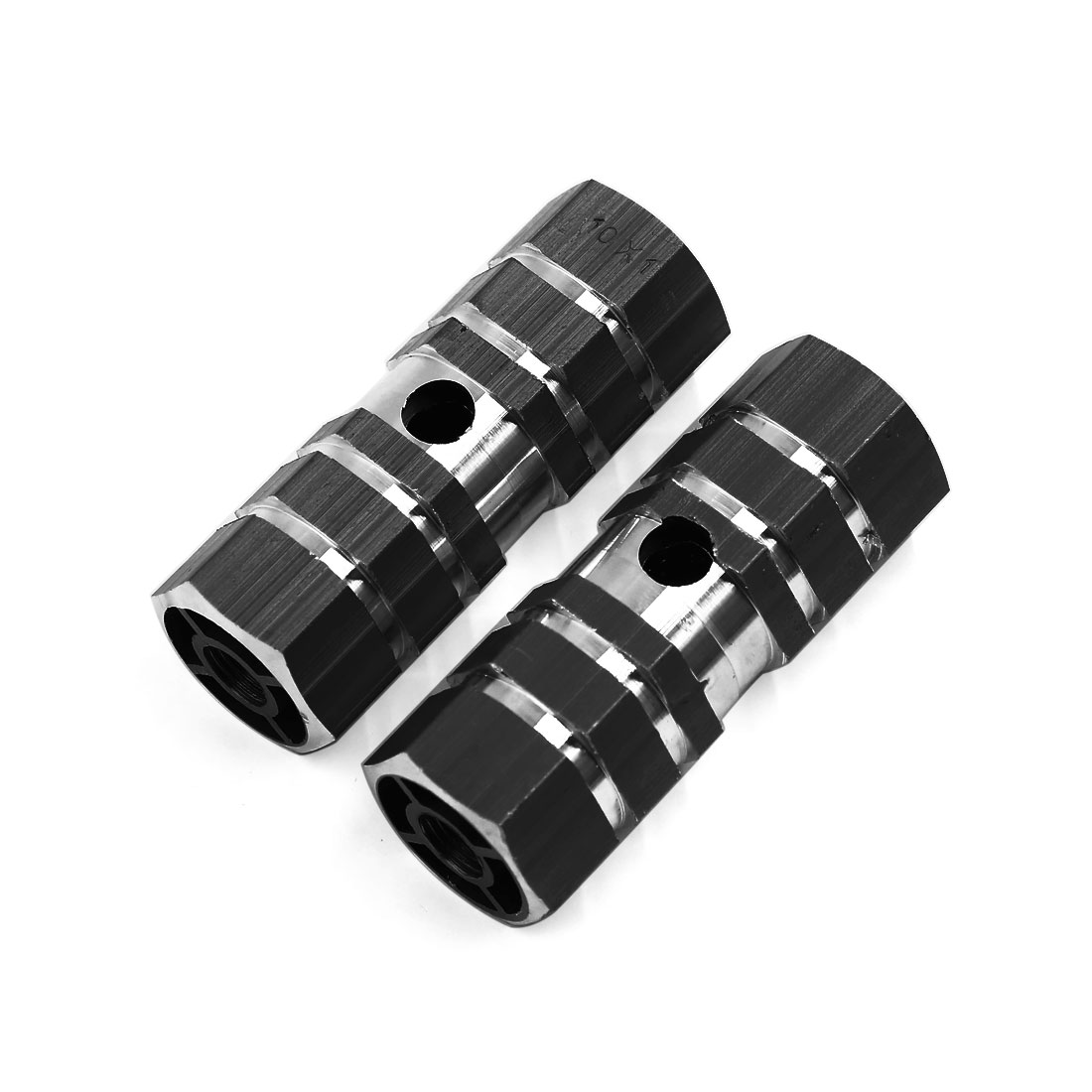 2 Pcs Cycling Bike Bicycle Antislip Sexangle Cylinder Axle Foot Pegs 9mm Thread